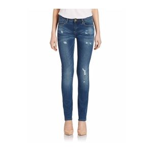 BLANKNYC distressed skinny jeans in indigo wash